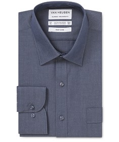 Classic Relaxed Fit Shirt Indigo Dobby