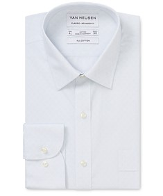 Classic Relaxed Fit Shirt Blue Surf Diamond Dot Print