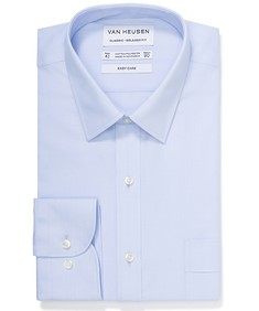 Classic Relaxed Fit Shirt Surf Blue Self Stripe