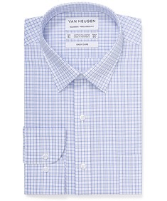 Classic Relaxed Fit Shirt Navy Glen Check