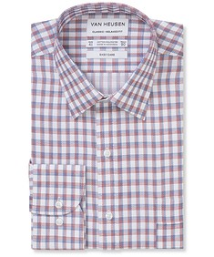 Classic Relaxed Fit Shirt Two Tone Dobby Check