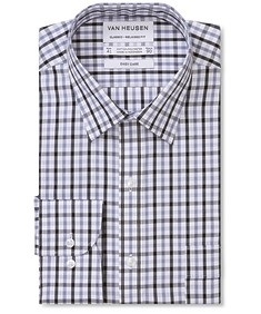 Classic Relaxed Fit Shirt Two Colour Poplin Check