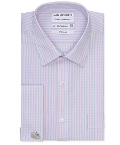 Classic Relaxed Fit Shirt Dusty Pink Check