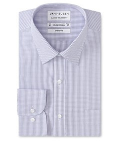 Classic Relaxed Fit Shirt Mauve Border Check