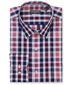 Classic Relaxed Fit Shirt Maroon Tone Check
