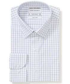 Classic Relaxed Fit Shirt Blue Tone Check