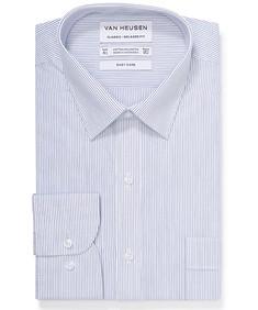 Classic Relaxed Fit Shirt White Indigo Stripe