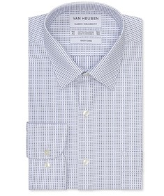 Classic Relaxed Fit Shirt Geometric Dobby