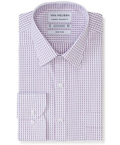 Classic Relaxed Fit Shirt Mulberry Dobby Print