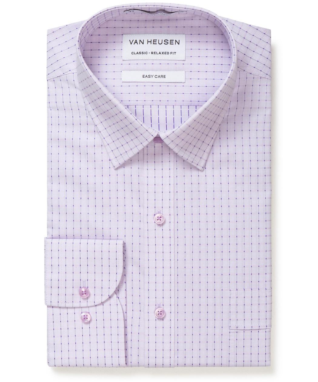 Van Heusen Classic Relaxed Fit Shirt Square Dot Check Mens