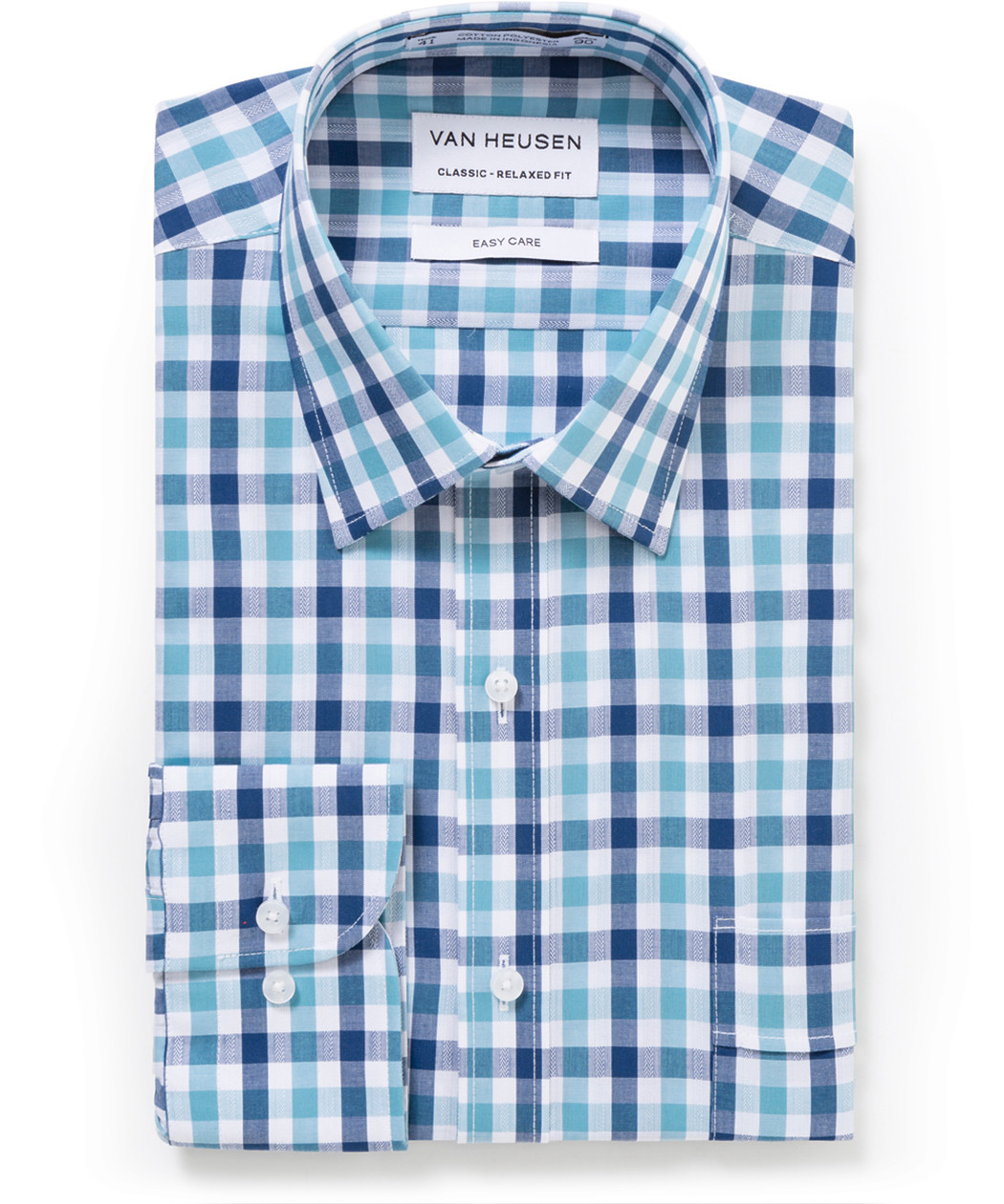 4fcef3c57f8 Van Heusen. Classic Relaxed Fit Shirt Multi Tone Large Check