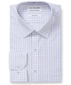 Classic Relaxed Fit Shirt White with Pastel Check