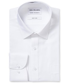 Classic Relaxed Fit Shirt White Textured