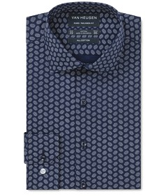 Euro Tailored Fit Shirt Indigo Circle Print