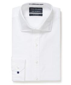 Euro Tailored Fit Shirt White Cotton Oxford