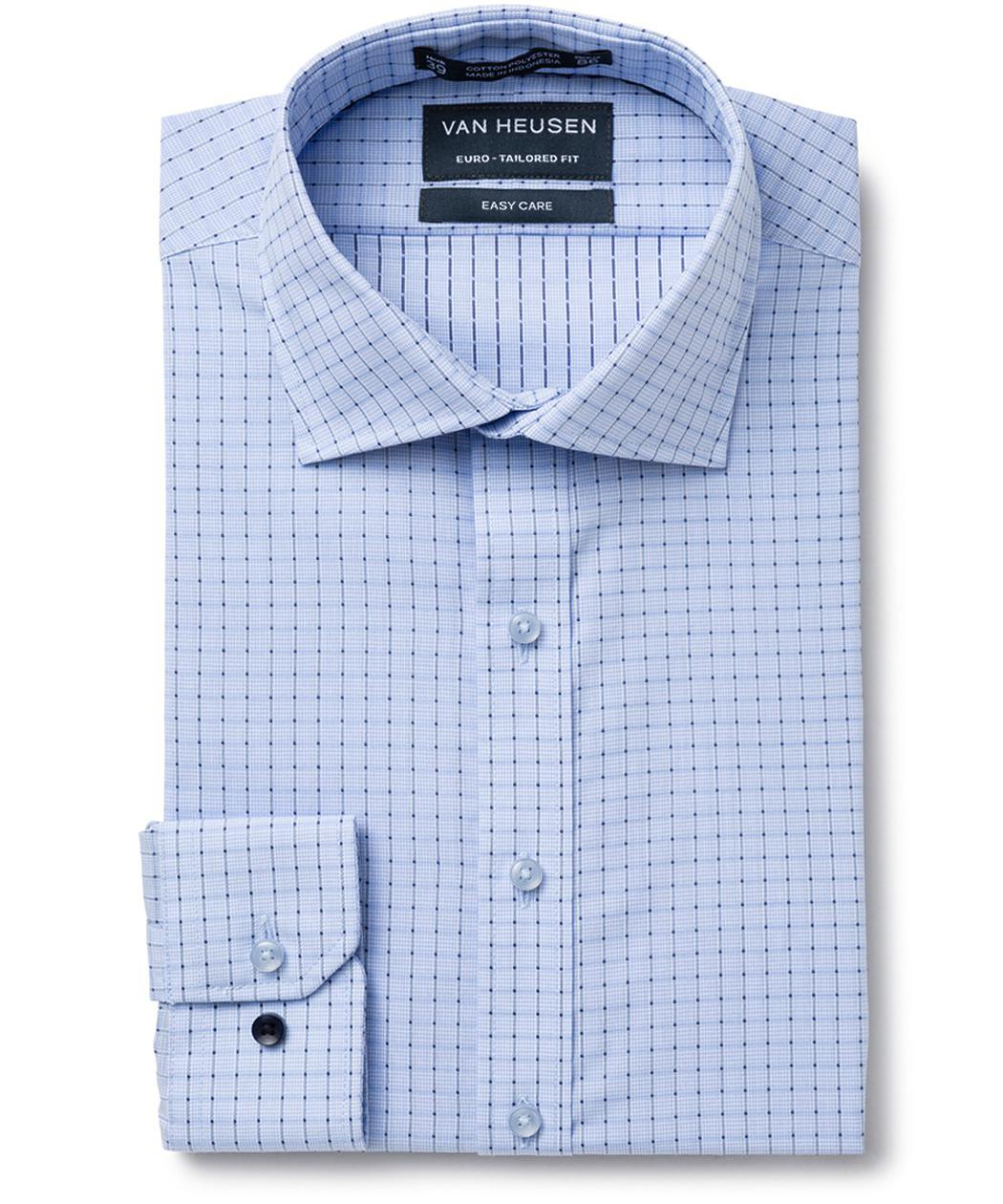 693c4bb5a7 Buy a Van Heusen Euro Tailored Fit Shirt Blue Connect Check from ...
