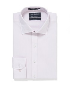 Euro Tailored Fit Shirt Pink Self Dobby