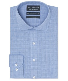 Euro Tailored Fit Shirt Blue All Over Check