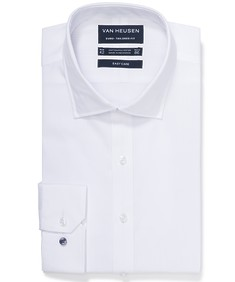 Euro Tailored Fit Shirt White Self Stripe