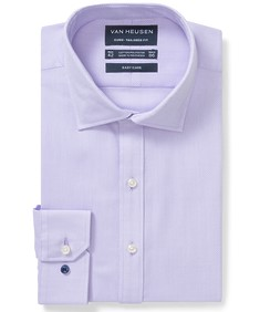 Euro Tailored Fit Shirt Mauve Textured