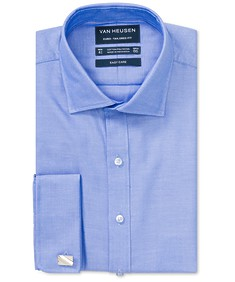Euro Tailored Fit Shirt Blue Surf French Cuff