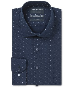 Euro Tailored Fit Shirt Indigo Dot Print