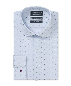 Euro Tailored Fit Shirt Blue Rose Print