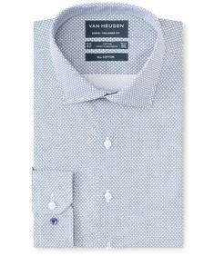 Euro Tailored Fit Shirt Navy Geometric Print