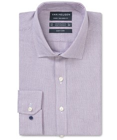 Euro Tailored Fit Shirt Mulberry Dobby