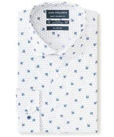 Euro Tailored Fit Shirt Indigo Flower Print