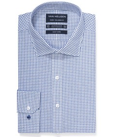 Euro Tailored Fit Shirt Large Shadow Check