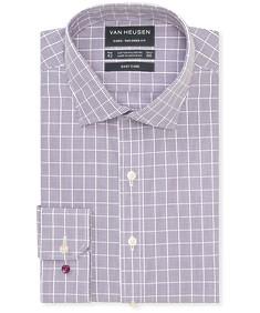 Euro Tailored Fit Shirt Large Tonal Check