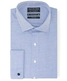 Euro Tailored Fit Shirt Herringbone Detail