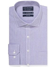 Euro Tailored Fit Shirt Purple Dobby Print