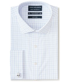 Euro Tailored Fit Shirt French Cuff Check