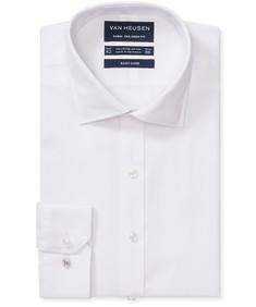 Euro Tailored Fit Shirt White Jacquard