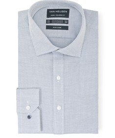 Euro Tailored Fit Shirt Indigo Dobby Dot Print