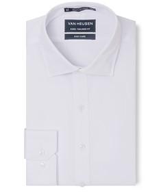 Euro Tailored Fit Shirt White Self Diamond Check