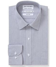 Classic Relaxed Fit Shirt Charcoal Check