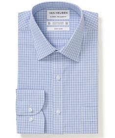 Classic Relaxed Fit Shirt Blue Tonal Checks