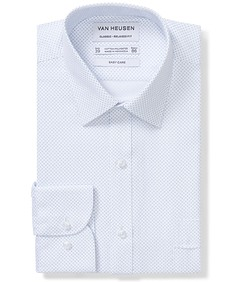 Classic Relaxed Fit Shirt White Dot Print