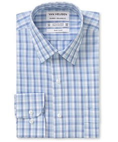 Classic Relaxed Fit Shirt Blue Tone Glen Check