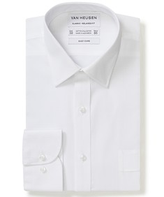 Classic Relaxed Fit Shirt White Raised Outline Check