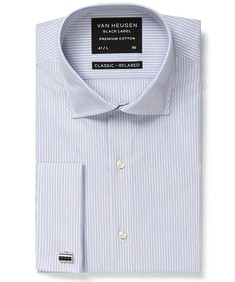 Black Label Classic Relaxed Fit Shirt Blue Contrast Stripe