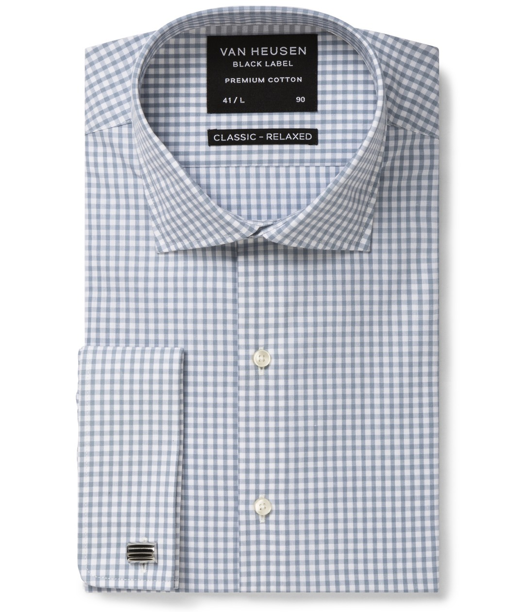 7e13ee056d Van Heusen. Black Label Classic Relaxed Fit Shirt Grey Gingham