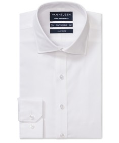Euro Tailored Fit Shirt White Solid