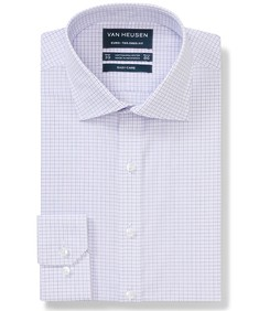 Euro Tailored Fit Shirt Lilac Tonal Line Check