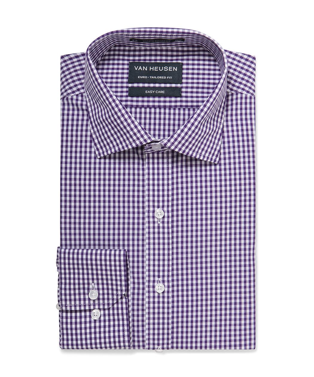 05c95e8c0b Euro Tailored Shirt Purple Small Gingham Check