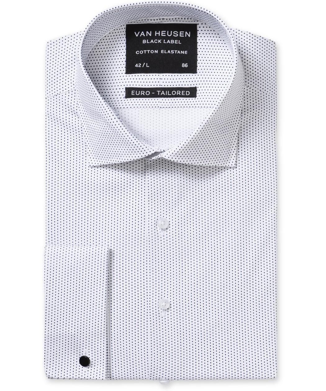 18f2648396 Black Label Euro Tailored Fit Shirt White Black Dot