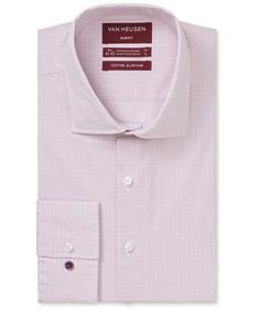 Slim Fit Shirt Dusty Pink Geometric Print